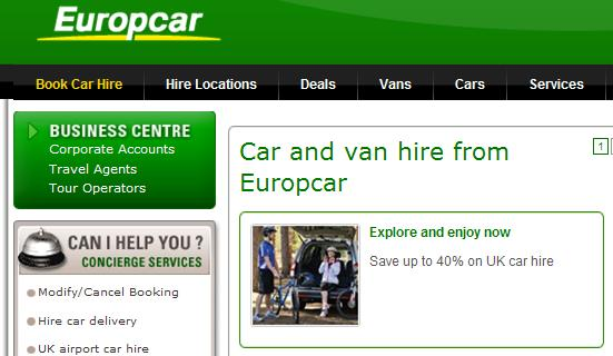 Europcar Coupon Codes Europe B W P5 Deals