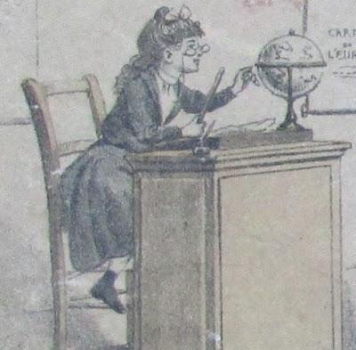 Malette jeu « La Petite Maîtresse d'Ecole, édition 1912, détail (collection musée)