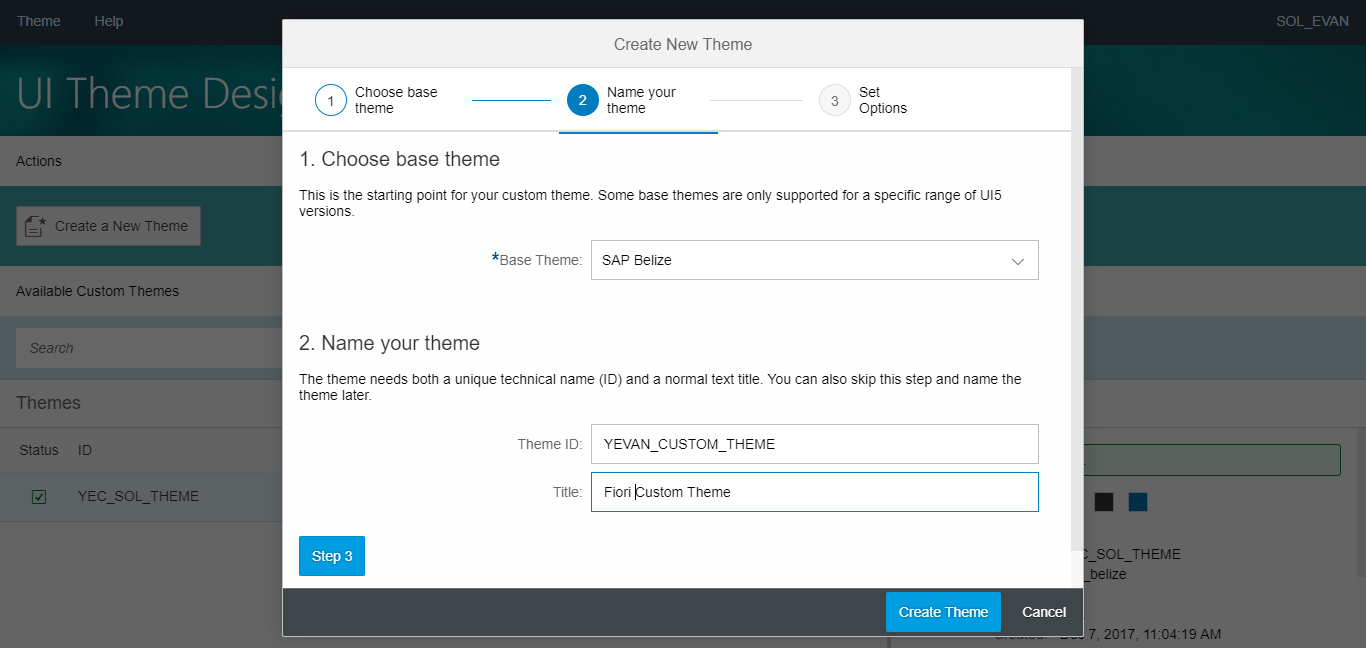 ABAPer Notes: Simple use of Fiori Theme Designer