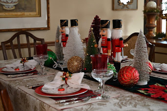 Festive Dining With Nutcrackers