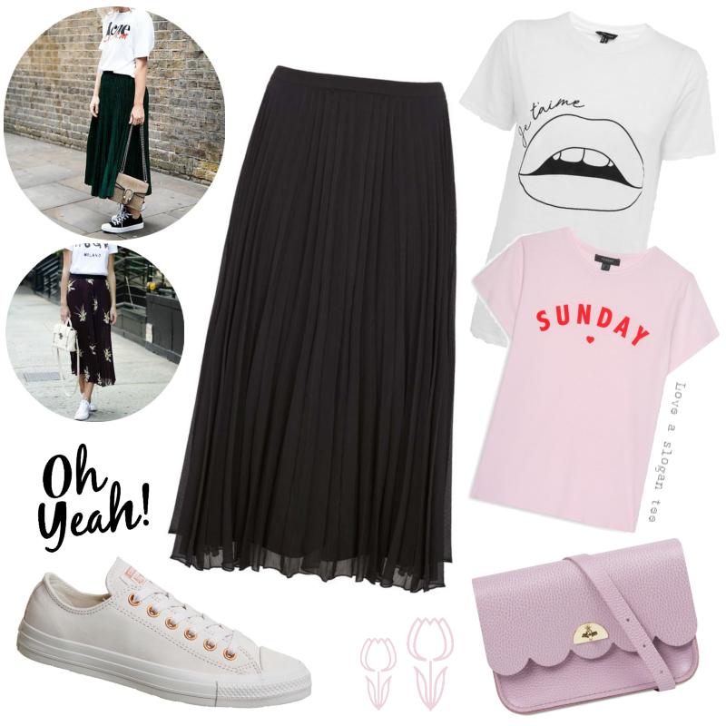 Three ways to wear - the pleated midi skirt | Easy everyday