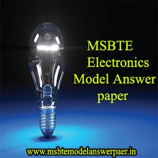 **(SEM - 2) ELECT DEPT MSBTE MODEL ANSWER PAPERS DOWNLOAD
