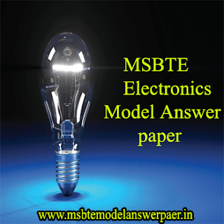 ::MSBTE (SEM - 3) ELECTRONIC DEPT MODEL ANSWER SCRIPTS PDF