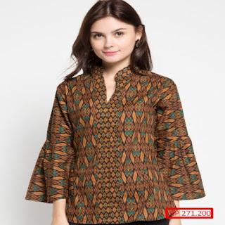 desain baju batik keluarga modern