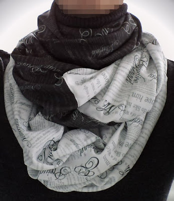 Pride & Prejudice themed infinity mobius scarf by eSheep Designs
