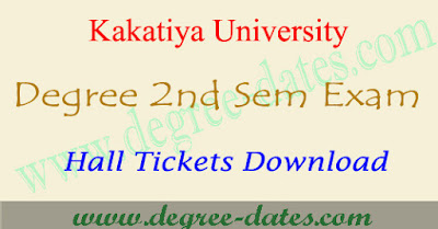KU degree 2nd sem hall tickets 2017 & kakatiya 1st year ug results