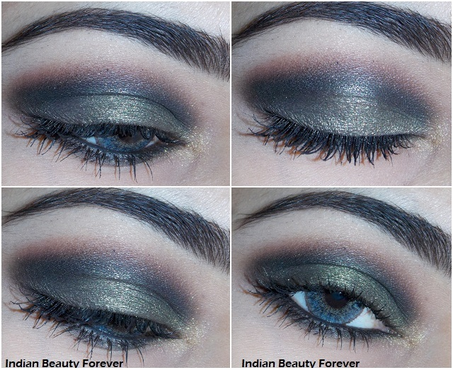 Smokey Olive green Eye Makeup step by step Tutorial