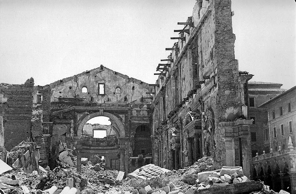 Livorno, Cathedral destroyed by air raids