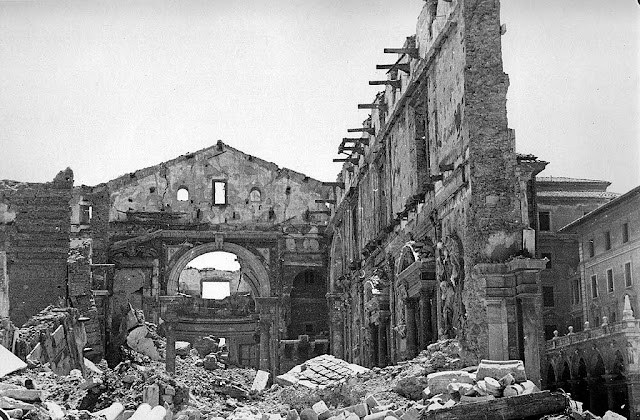 Cathedral destroyed by air raids, Livorno