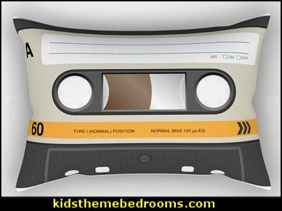 K7 cassette 8 90 Rectangular Pillow  Music bedroom decorating ideas - rock star bedrooms - music theme bedrooms - music theme decor - music themed decorations - bedding with musical notes - music bedroom decor - music themed bedroom wallpaper - music bedrooms - music bedroom design -  music bedroom accessories - music decor for walls - band decorations rock and roll - rock themed bedrooms - music bedding - music pillows - music comforters - music murals - Elvis