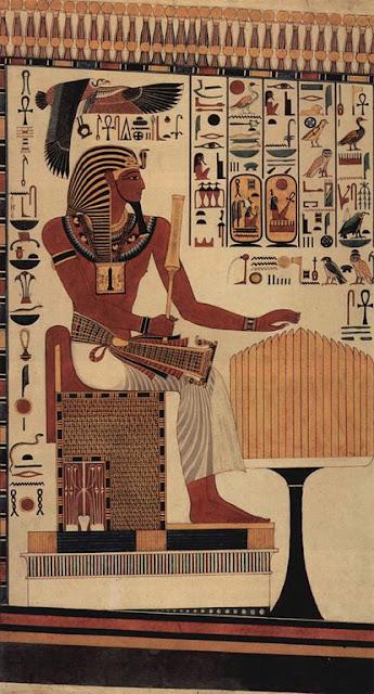 Kopie einer Wandmalerei aus dem Grab des Sethos I