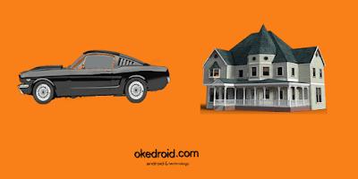 Contoh kehidupan nyata sehari-hari objek mobil dan rumah di java
