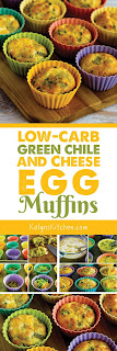 Low-Carb Green Chile and Cheese Egg Muffins found on KalynsKitchen.com