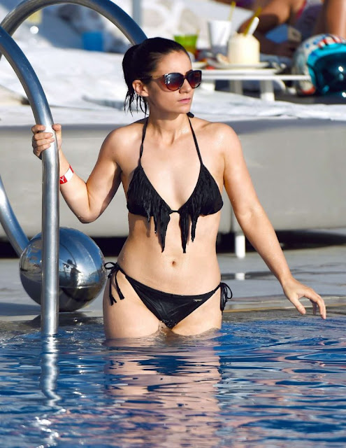 Frances Bishop in Black Bikini in Dubai