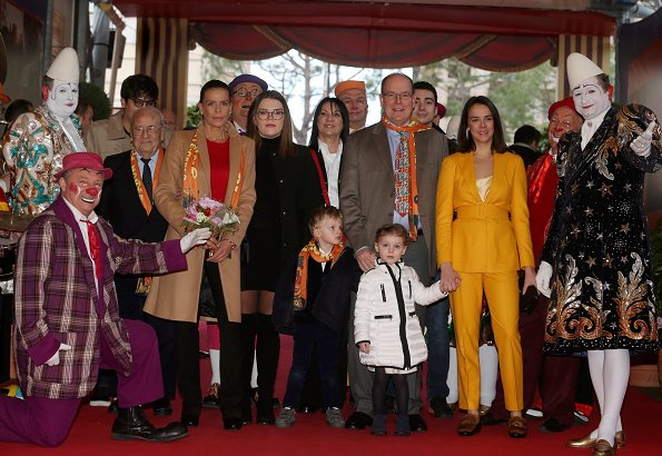 Prince Albert, Crown Prince Jacques, Princess Gabriella, Princess Stephanie, Camille Gottlieb and Pauline Ducruet