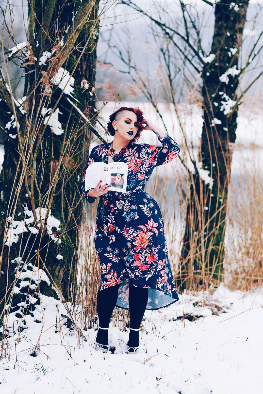 robe grande taille fleurie printemps