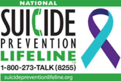 Suicide Prevention Hotline 1-800-273-8255 | on www.BakingInATornado.com