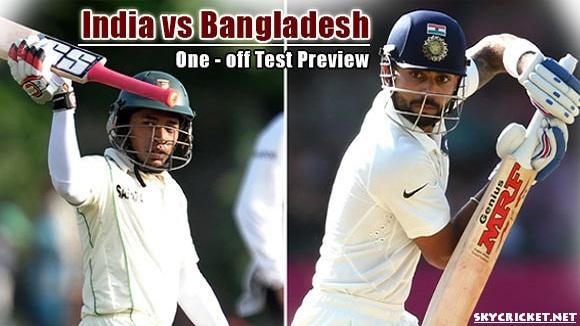Live telecast of BAN v IND Test Match 2017