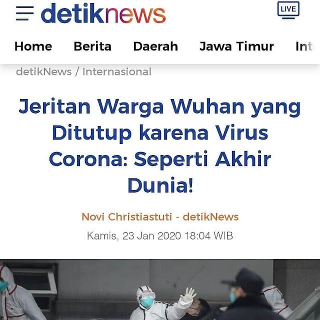 Warga Wuhan Diserang Virus Corona