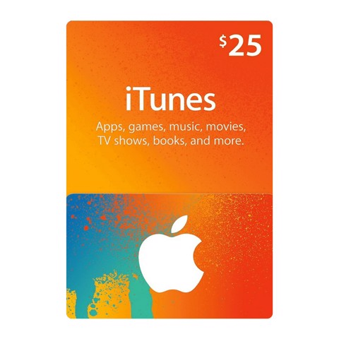 gift card itunes 25$ hệ mỹ 600.000 VNĐ