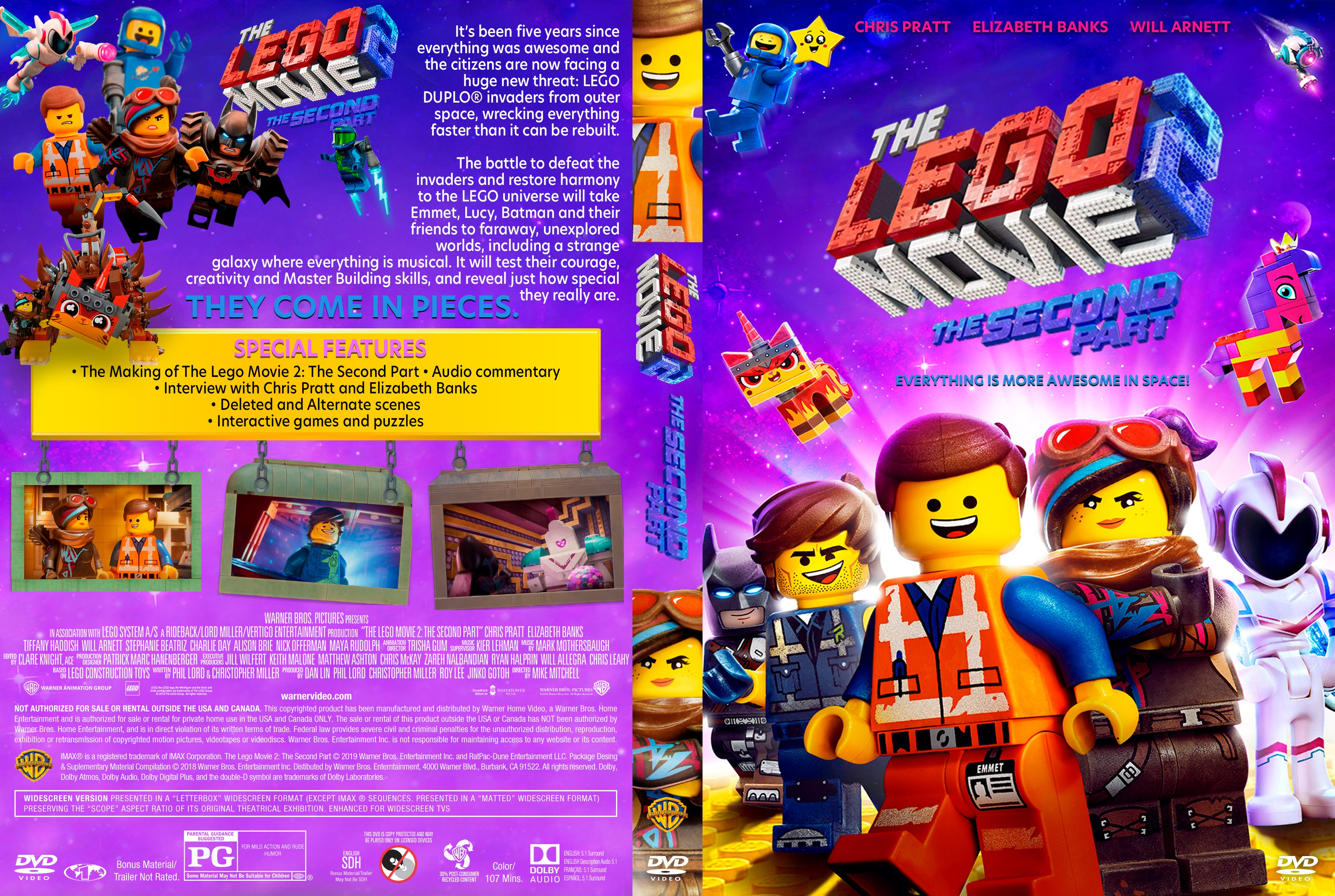 The Lego Movie 2 The Second Part Dvd Cover Cover Addict Free