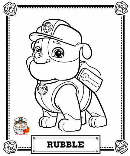 Paw Patrol Chase Coloring page free - Coloring Page