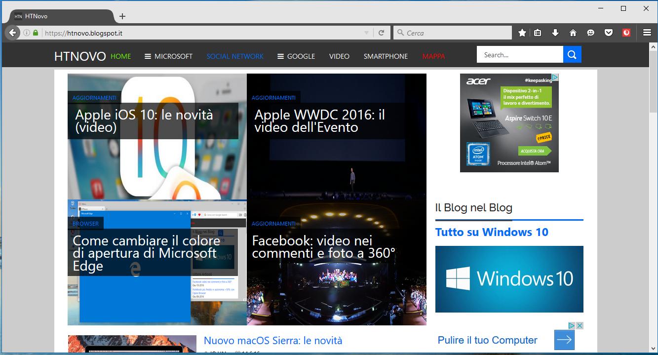 Colora le schede di Firefox con VivaldiFox HTNovo