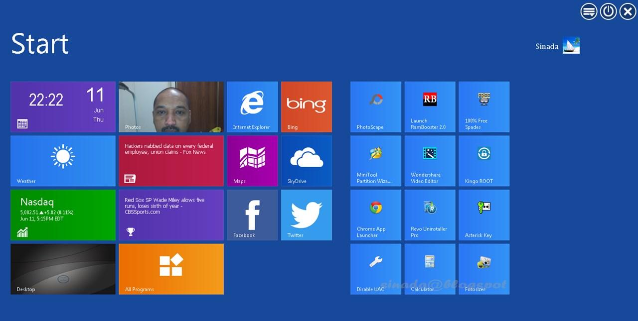 Sinada@blogspot: WinMetro - Bring Windows 8 Look To Windows 7 & XP
