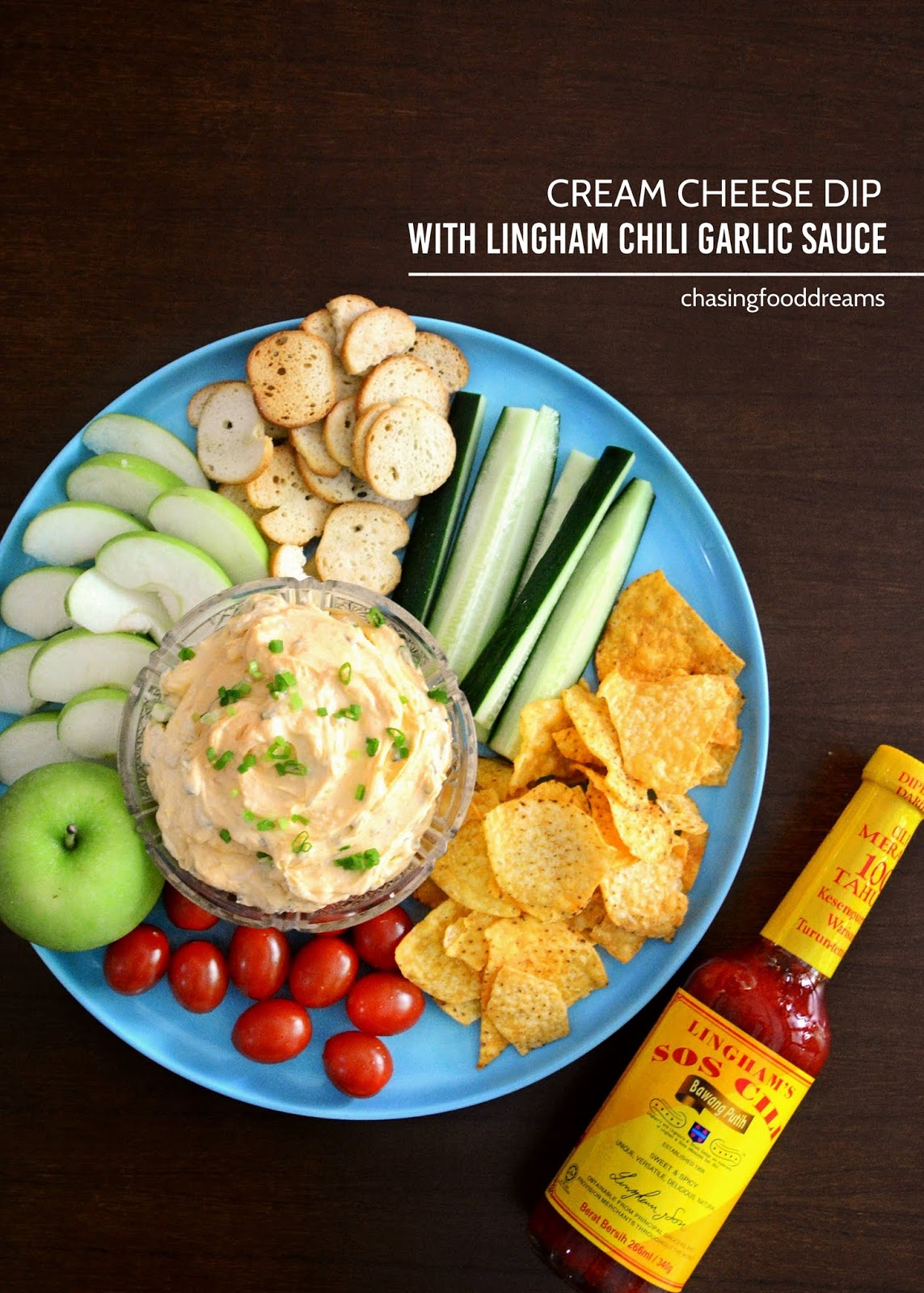 Chasing Food Dreams Recipe Cream Cheese Dip With Lingham Chili Sauce Sambal Cuk Travel Pack Bawang