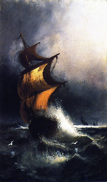 """Ship in a storm""  Henry Ossawa Tanner"