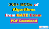 [PDF] 300+ MCQs of Algorithms from GATE Exam