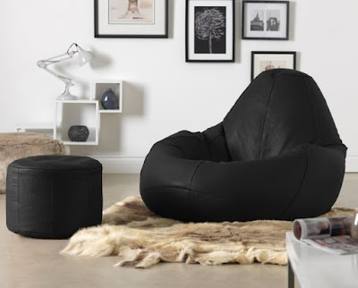 ICON Valencia Real Leather Beanbag from beanbag Bazaar.