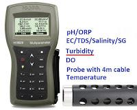Jual Turbidity HANNA HI9829-01042 Multiparameter - pH / ORP / EC / TDS / Salinity / DO / Turbidity / Temp - 4m