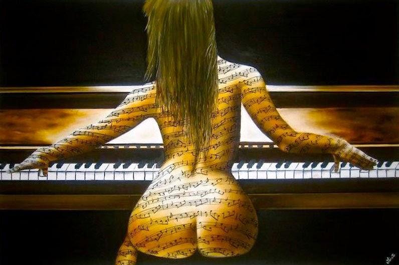Piano com Vida -  Pinturas de Lisete Alcalde | O pintor que toca o coração