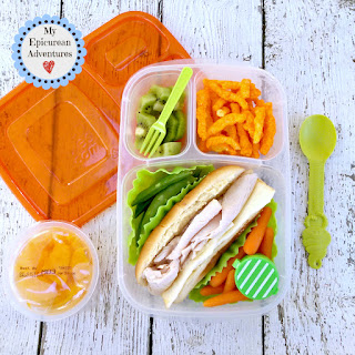My Epicurean Adventures: Lunch Box Fun 2015-16: Weeks #23-28. Lunch box ideas, school lunch ideas, lunches, mini turkey and cheese sub sandwich