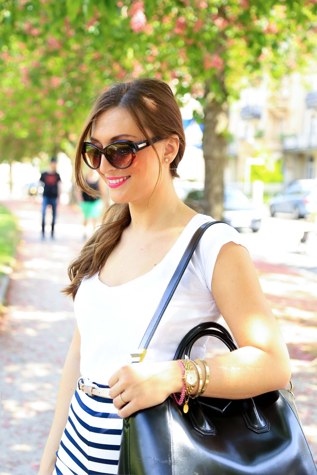 Zara Shorts- Streifen Hose -Hose mit streifen - Marine Hose - Stripes - Streifen - Stripes Shorts Fashionstylebyjohanna