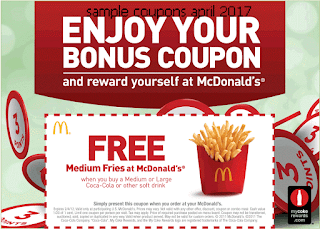 Mcdonalds coupons april