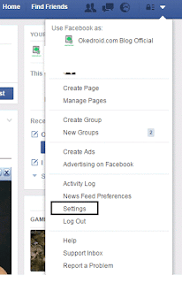 Setting Facebook