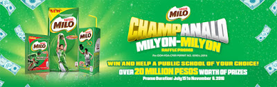 MILO Champanalo raffle promo, Philippines promo, MILO Philippines promo