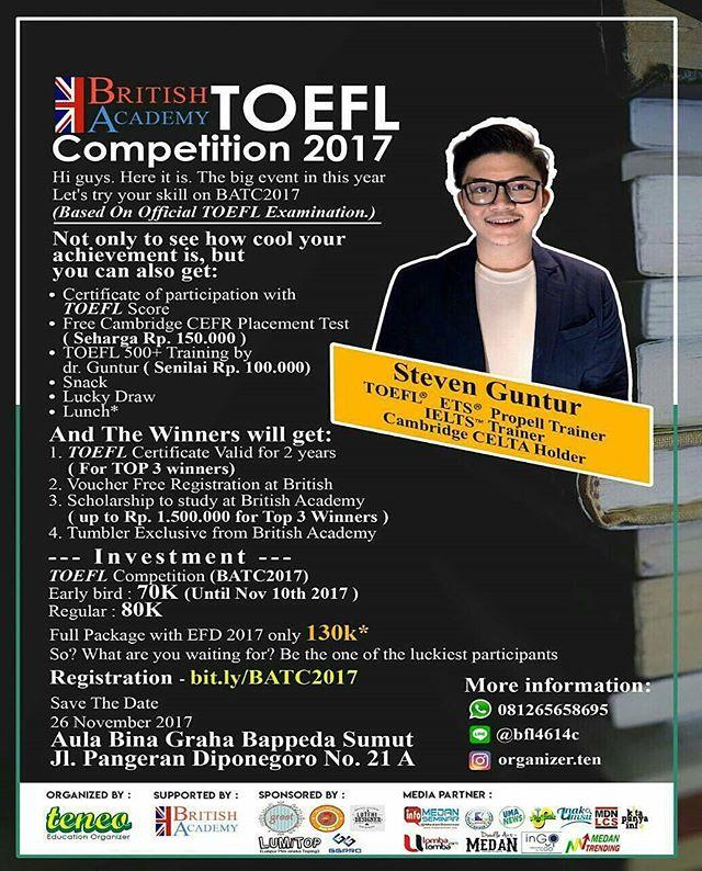 British Academy TOEFL Competition 2017 Untuk SMA Sederajat - Mahasiswa