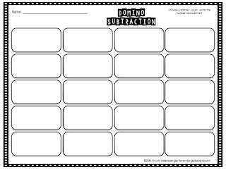math worksheet : domino subtraction worksheets for kindergarten  math workstations  : Domino Math Worksheets