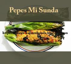 Mi yakni salah satu bentuk kreasi makanan yang mempergunakan materi dasar tepung terigu d Resep Pepes Mi khas Sunda yang Nikmat dan Mantap