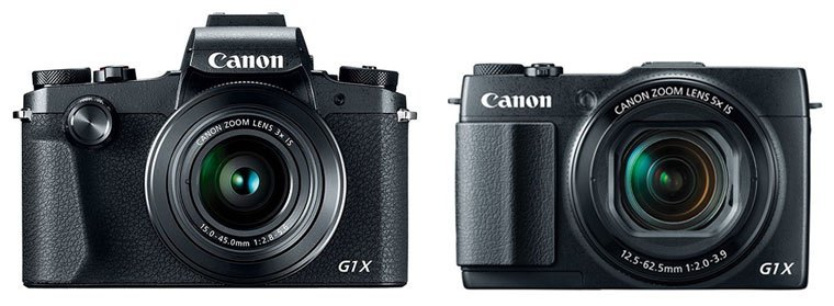 Сравнение Canon PowerShot G1 X Mark III и G1 X Mark II