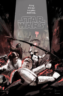 "Star Wars ""Into the Garbage Chute, Flyboy"" Regular Edition Screen Print by Jock x Mondo"