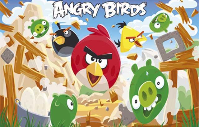 Painel decoração infantil Angry Birds para festa de aniversário