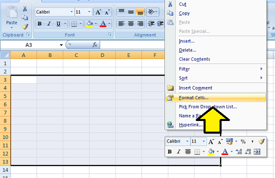 Cara manual membuat tabel microsoft excel