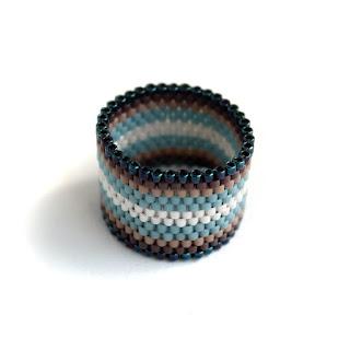 необычное широкое женское кольцо  купить в интернет магазине бисерных украшений