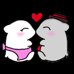 Hamster coupleSticker