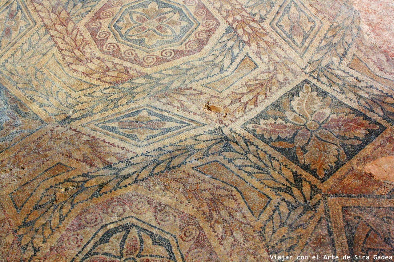 mosaico La Olmeda Palencia