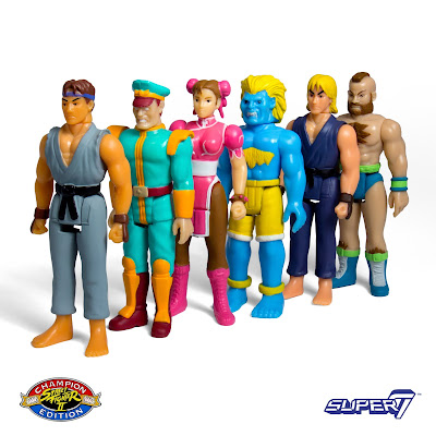 C2E2 2017 Exclusive Champion Edition Street Fighter 2 Variant ReAction Retro Action Figures by Super7